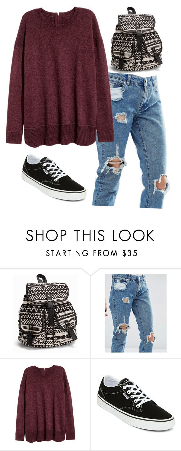 """Untitled #91"" by liebelievedie ❤ liked on Polyvore featuring NLY Accessories, ASOS and Vans"