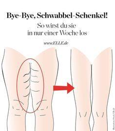 Schlanke Oberschenkel in 1 Woche: die besten Übungen für die Beine