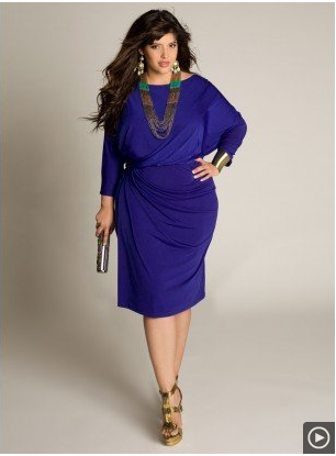 Draped Dress in Royal Blue