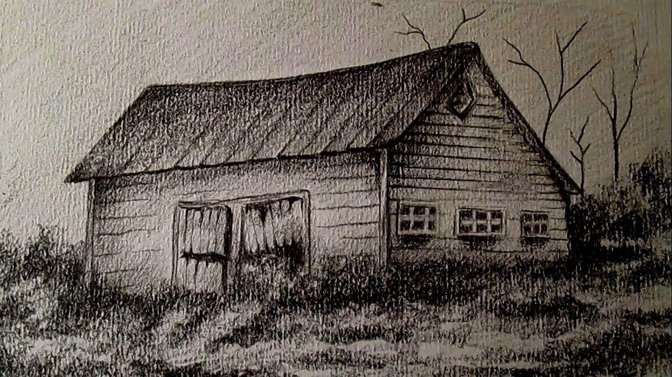 Como Dibujar Un Granero En El Campo Dibujar Paisajes A Lapiz Paso A Pas Paisaje A Lapiz Paisajes Dibujos Dibujo Al Carbon