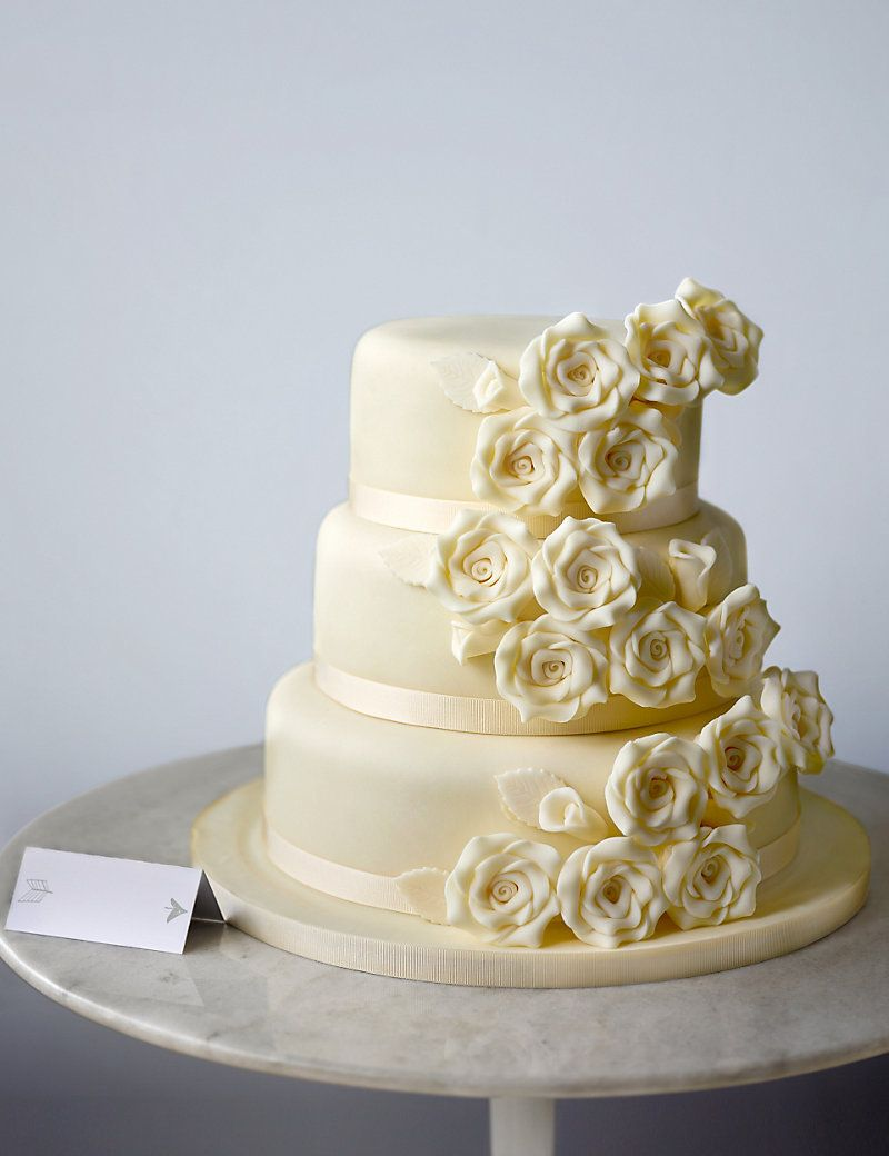 Classic Rose Assorted Wedding Cake | M&S | \'I will\' one day ...