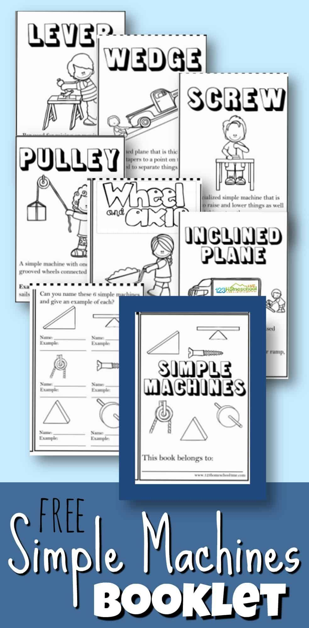 FREE Simple Machines Booklet   FREE Worksheets for Kids