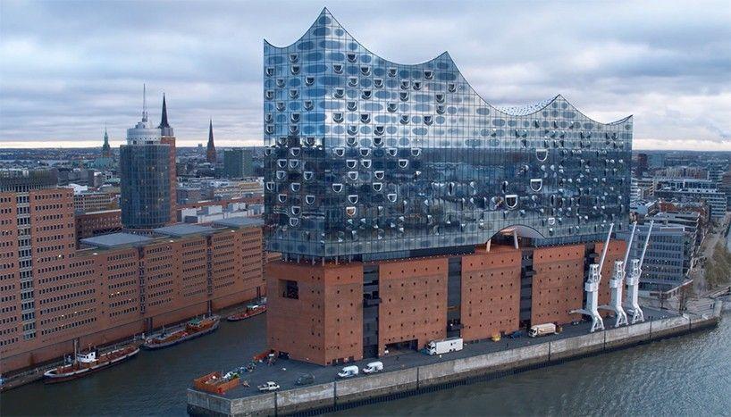 Drones Capture Empty Herzog De Meuron S Elbphilharmonie Architecture Architecture Details Architectural Inspiration