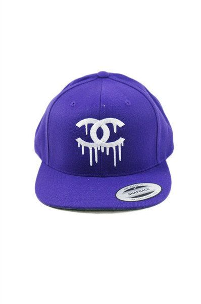 Dripping Chanel Logo Hat by MONSTERGODDESS  45443a16c09