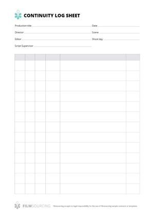 Continuity Log Sheet A Well Filled Out Continuity Log Sheet Can