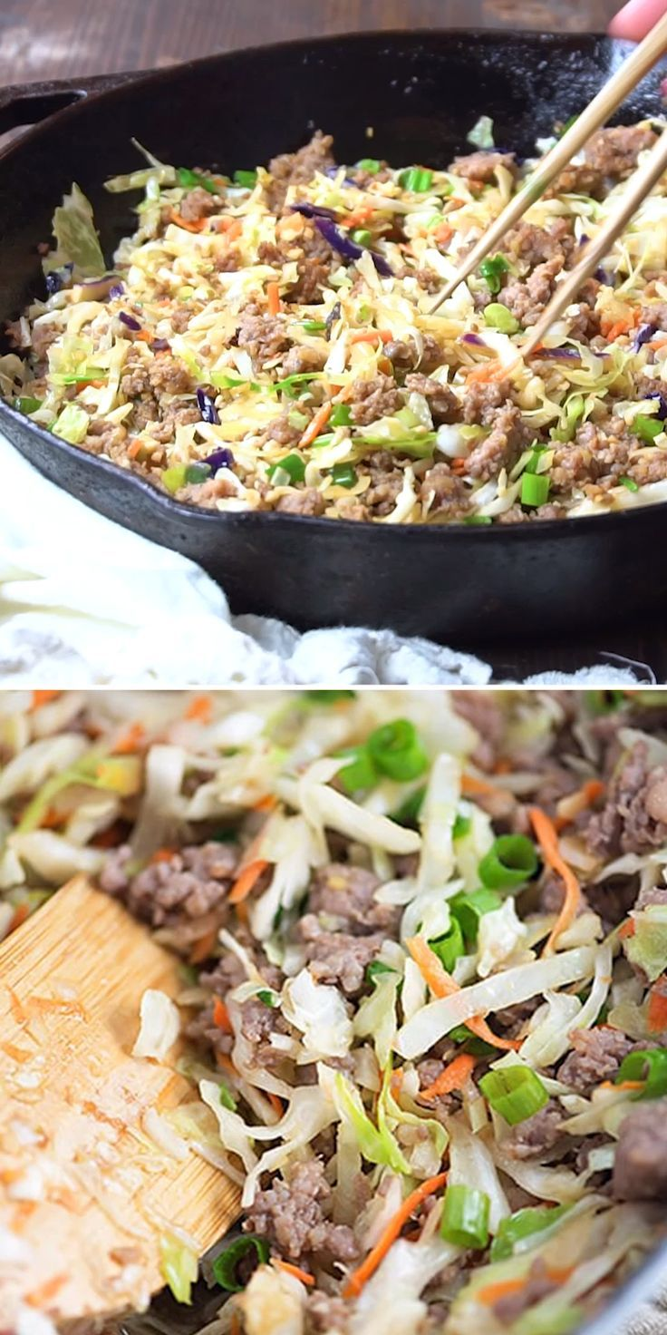 Everyones favorite low carb recipe egg roll in a bowl is