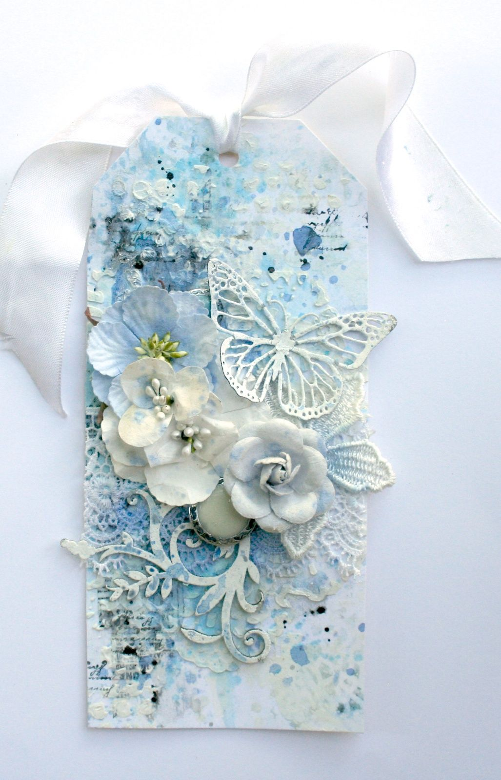 Shabby Tag created by Lisa Griffith for Blue Fern Studios DT using the new paper collection 'Ombre Dreams' more info at www.thepaperattic.blogspot.com