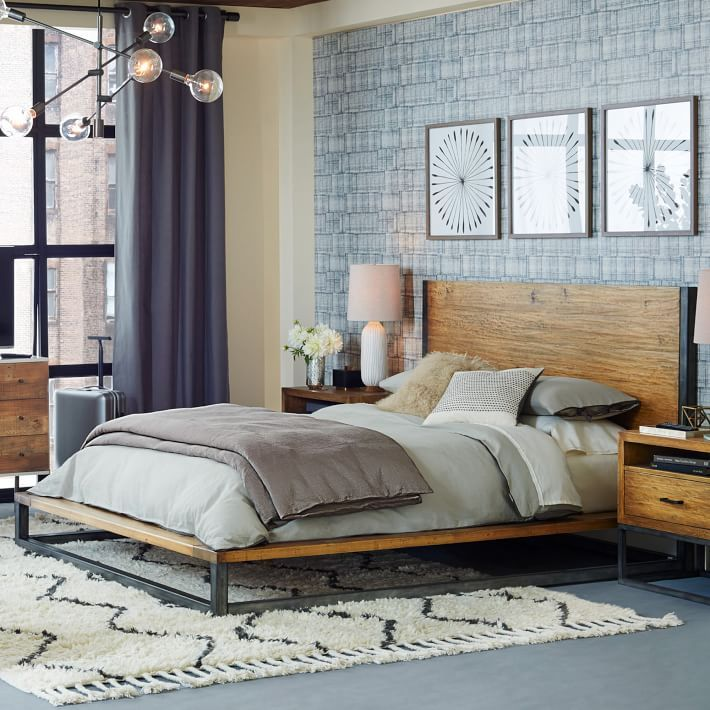 Industrial Bed Apartment Bedroom Decor Industrial Modern