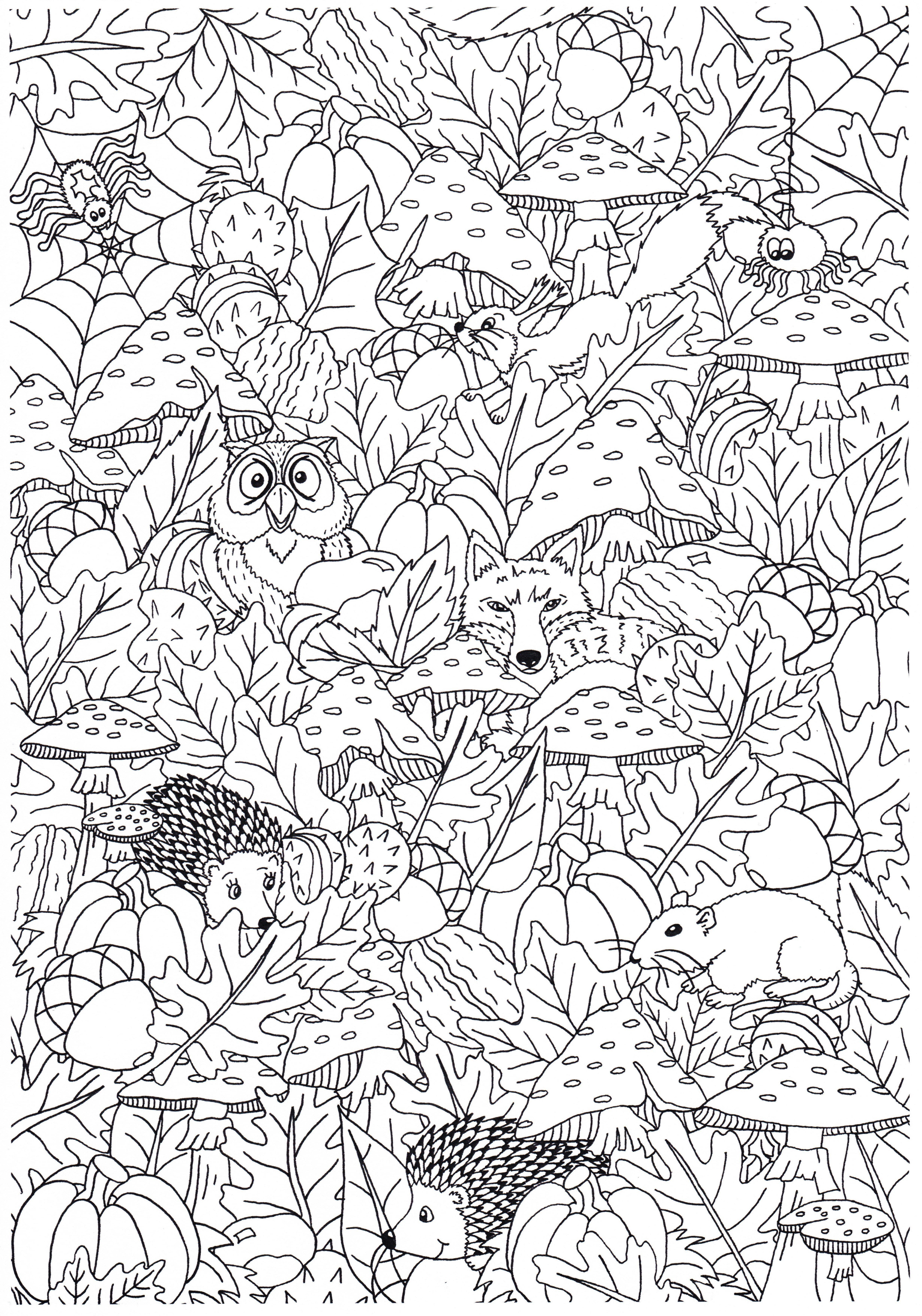 Herfst Kleurplaten Van Suzanne Kleurplatenherfst Mirelle Creametkids Boek Bladzijden Kleuren Mandala Kleurplaten Kleurplaten