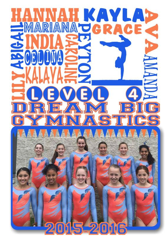 personalized gymnastics gifts / gymnastic team gift by JandAprints  Great gymnastics team gifts !