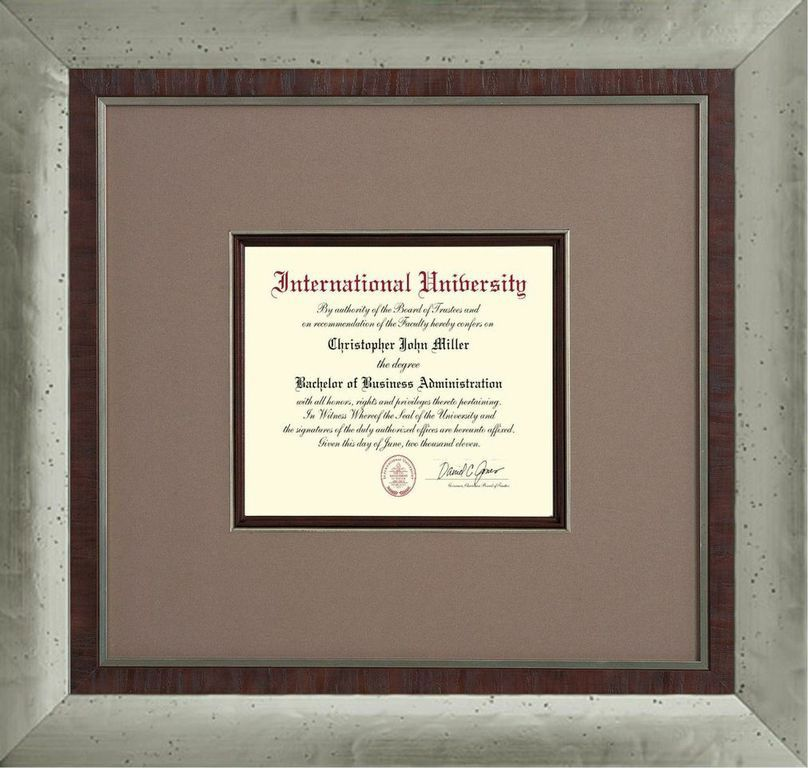 Contemporary Double Frame And Double Mat For Your Certificate Diploma Frame Custom Framing Frame