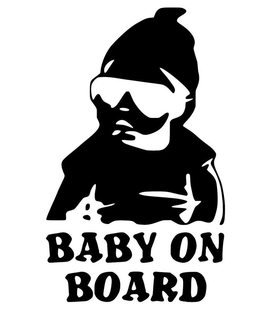 Baby On Board Family Decal Car Truck Window Custom Vinyl Sticker - Custom vinyl cut decals