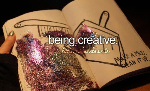 I LOVE THE PICTURE! And yes, I also love being creative. :)