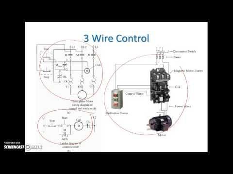 Ladder Diagram Basics #3 (2 Wire & 3 Wire Motor Control ... on 3 wire sensor diagram, 3 wire breaker diagram, 3 wire switch diagram, 3 wire alternator diagram, 3 wire compressor diagram, 3 wire connection diagram, 3 wire voltage regulator diagram, 3 wire motor diagram,