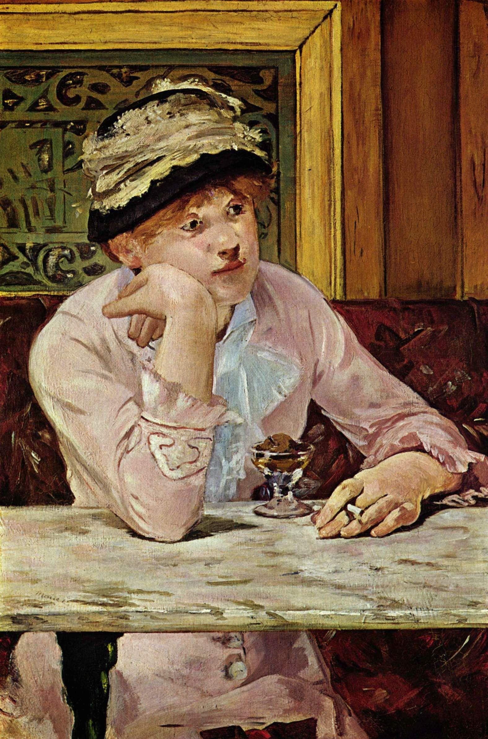 Edouard Manet Plum 1878 Table