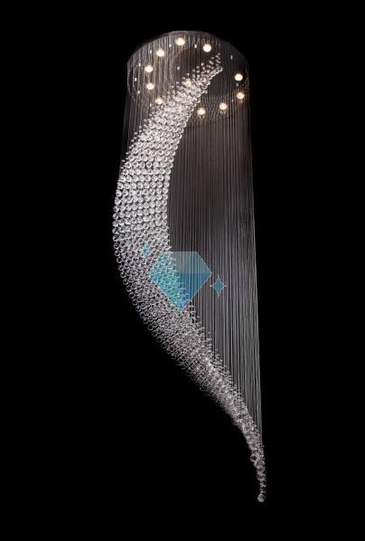 lampy kryształowe wiszące i kinkiety