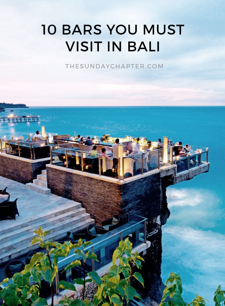 The Best Bars In Bali Detox Bar And Indonesia - Thailand vacation 10 things to know before you take off