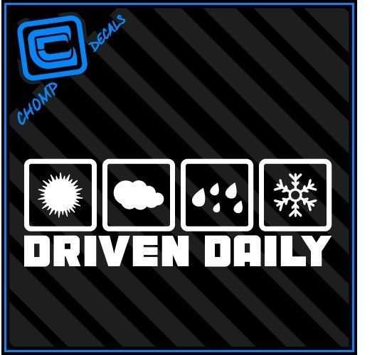 Driven Daily All Weather Jdm Fatlace Illest Drift V1 Stance Vinyl Decal Stickers Jdm Stickers Vinyl Decal Stickers Stickers