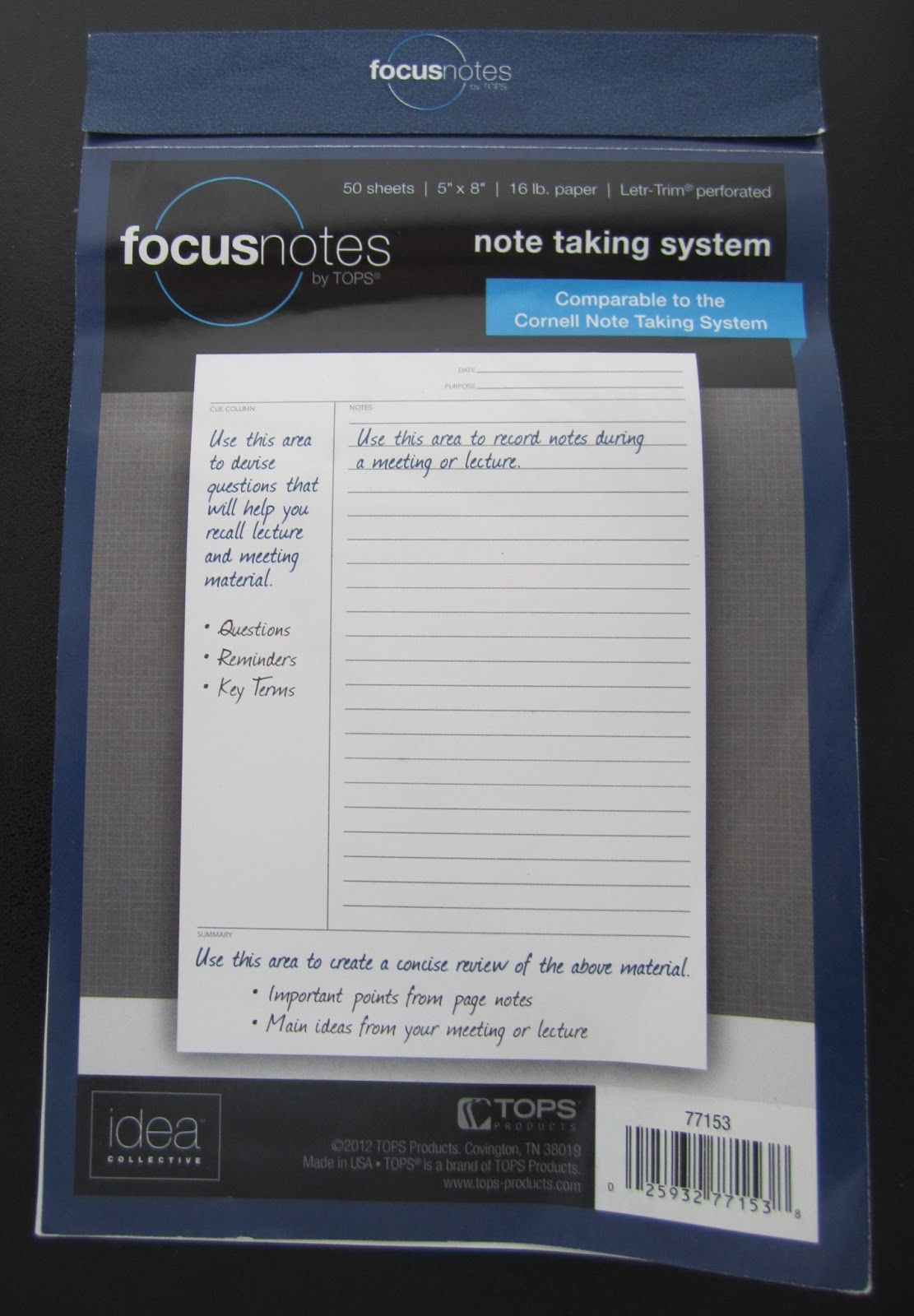 Leslie Likes Tops Focusnotes  Cornell Notes Template Notes