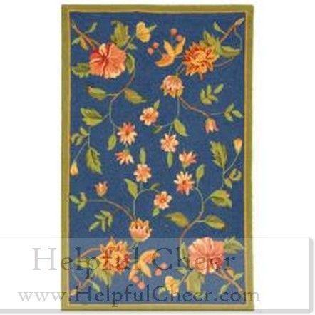 Safavieh Hand-hooked Garden Blue Wool Rug 2 x27 9 x 4 x27 9 - at - 0153