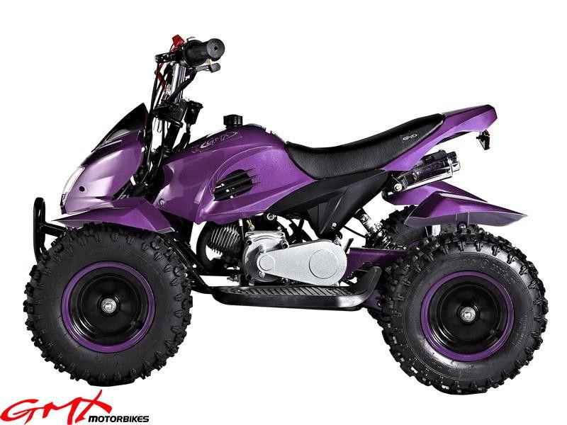 Gmx Kids Electric Quad Atv Bike 49cc Model Purple Kids Atv Dune