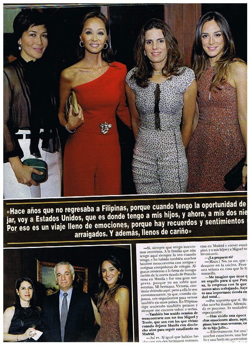 Presley with an Ivet's brocch at Hola Magazine