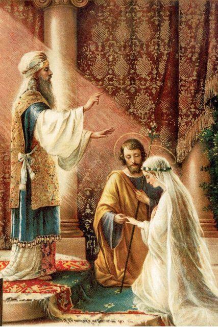 Znalezione obrazy dla zapytania zaślubiny św Józefa z Panną Marią