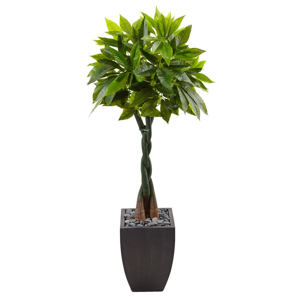 Nearly Natural Indoor Money Artificial Tree In Black 400 x 300