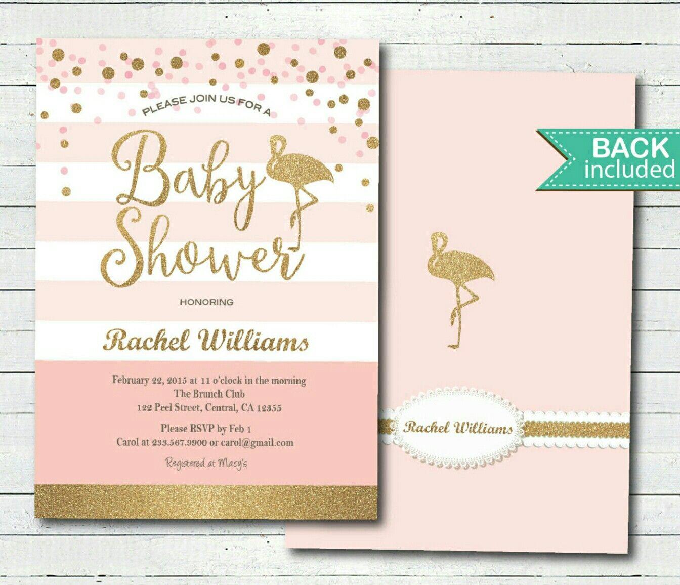 Baby Shower Invitation Idea