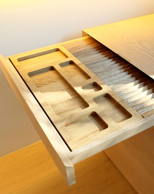 The precision of a custom made kitchen drawer by German designers
