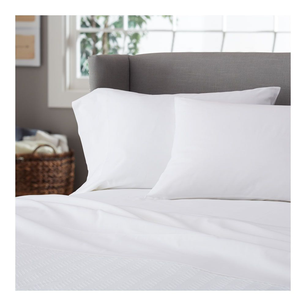 400 Count Hotel Quality Deep Pocket 4 Piece Bed Sheet Set White ...