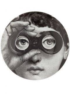 フォルナ・セッティ 円高還元▼FORNA SETTI▼Printed Plate woman's with binoculars. | インテリア - キッチン・クッキング - 皿|海外通販ならLASO(ラソ)