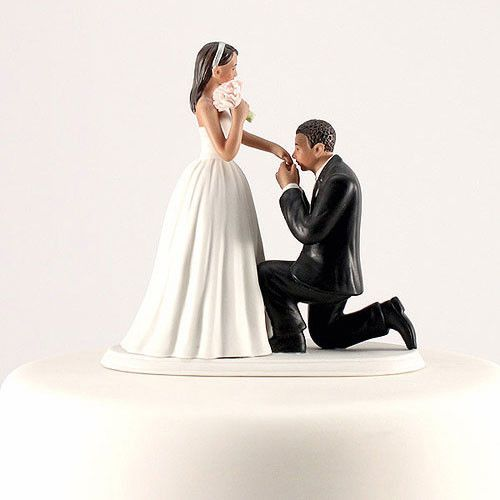 Cinderella Wedding Cake Top 3 Skin Tones