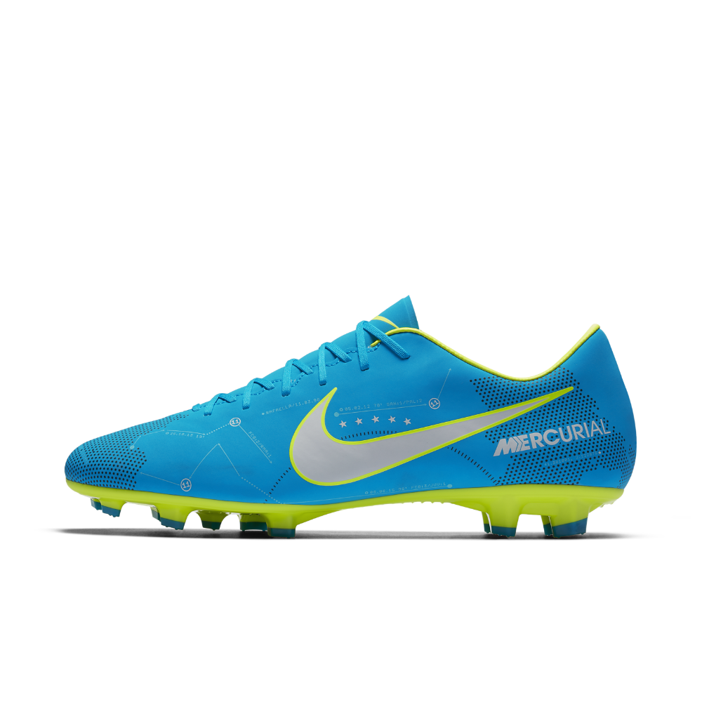 3bccd535659d87 Nike Mercurial Victory VI Neymar Firm-Ground Soccer Cleats Size 12.5 (Blue)