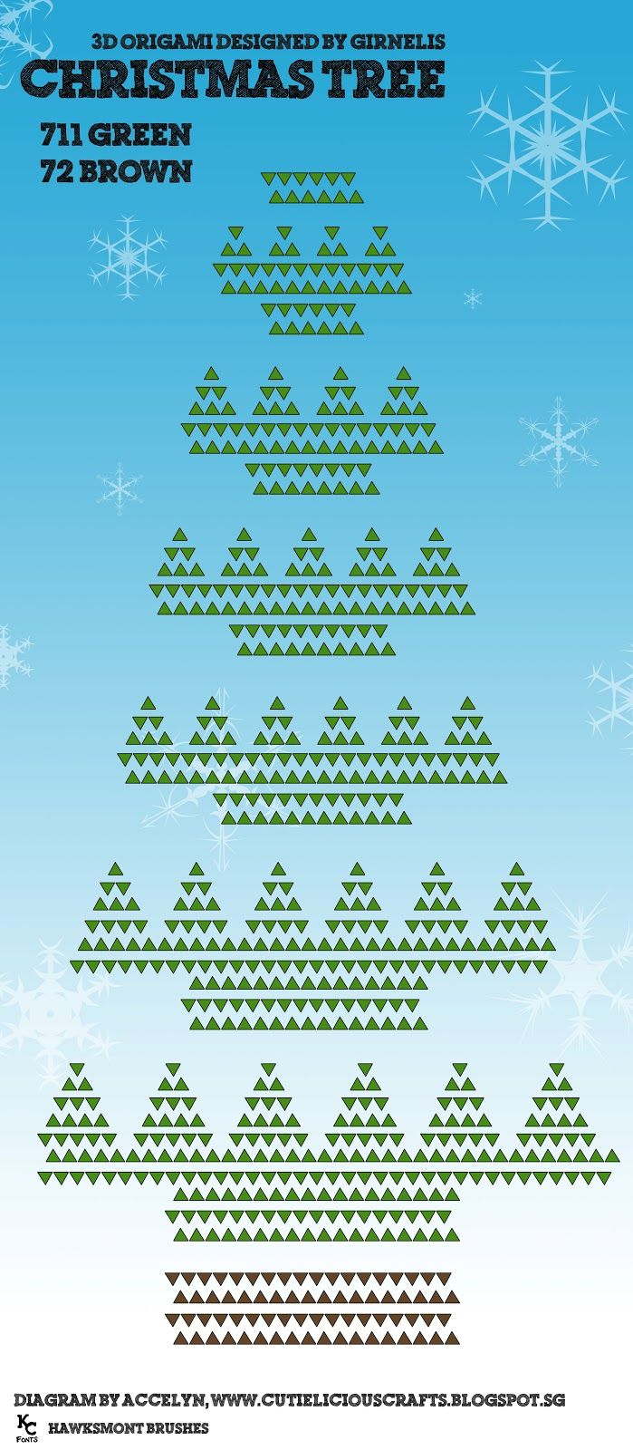 3d Origami Christmas Tree Diagram Automotive Wiring Pigorigami Pig Instructionsorigami Diagram3d Crea Pinterest And Rh Com Step By