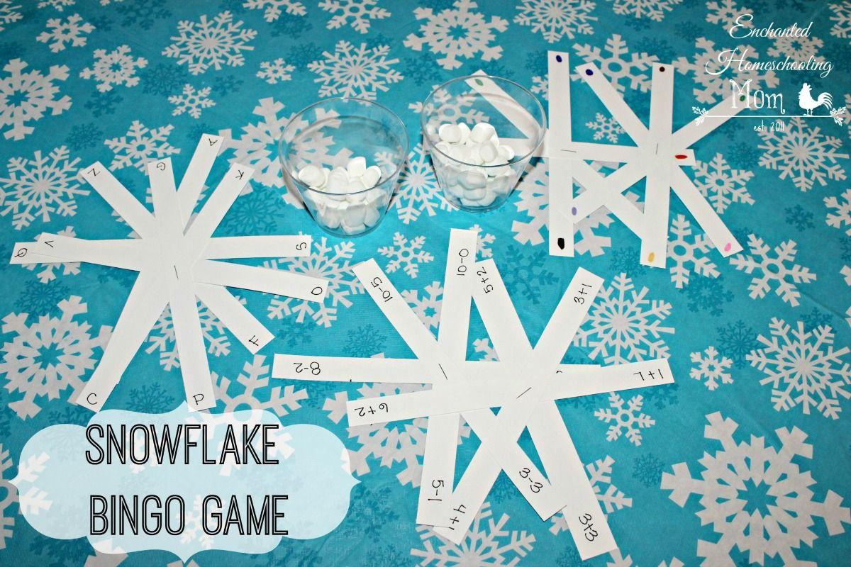 Snowflake Bingo Game