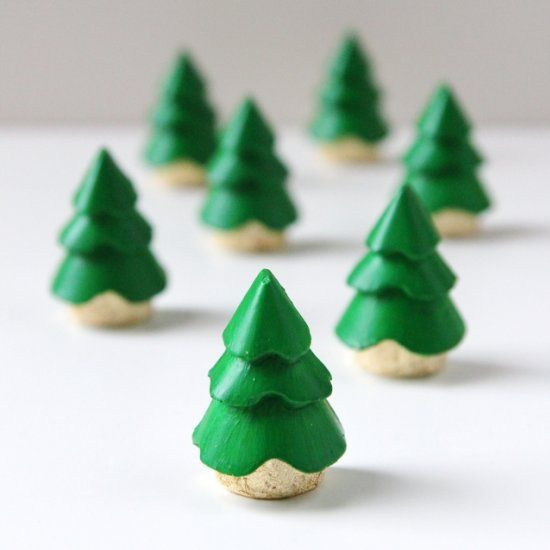 Make These Diy Mini Christmas Trees Using Plaster Of Paris And A Silicone Ice Cube Mould Small Christmas Trees Christmas Tree Decorations Mini Christmas Tree