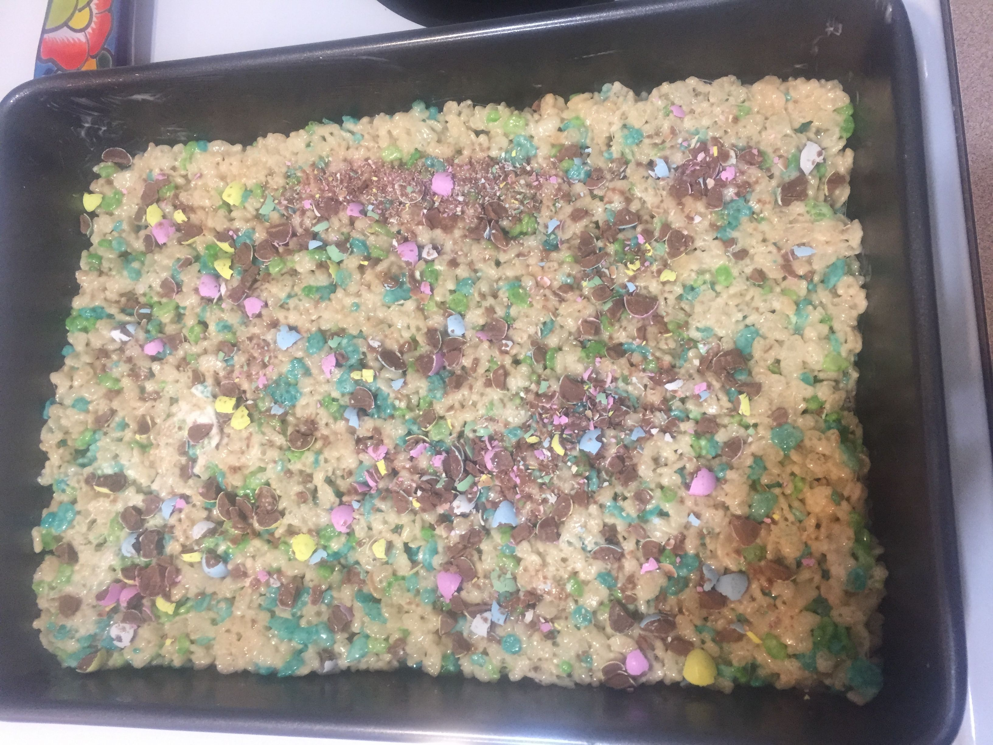 Easter Rice Krispies With Crumbled Mini Eggs On Top 1 4