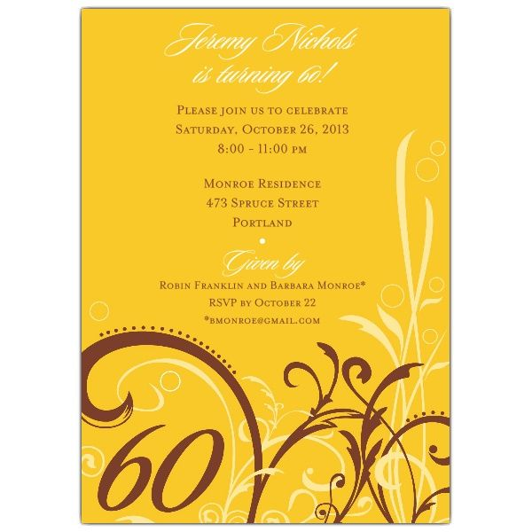 birthday invitation 60 - Google Search Sixty Pinterest 60th - best of sample invitation letter debut party