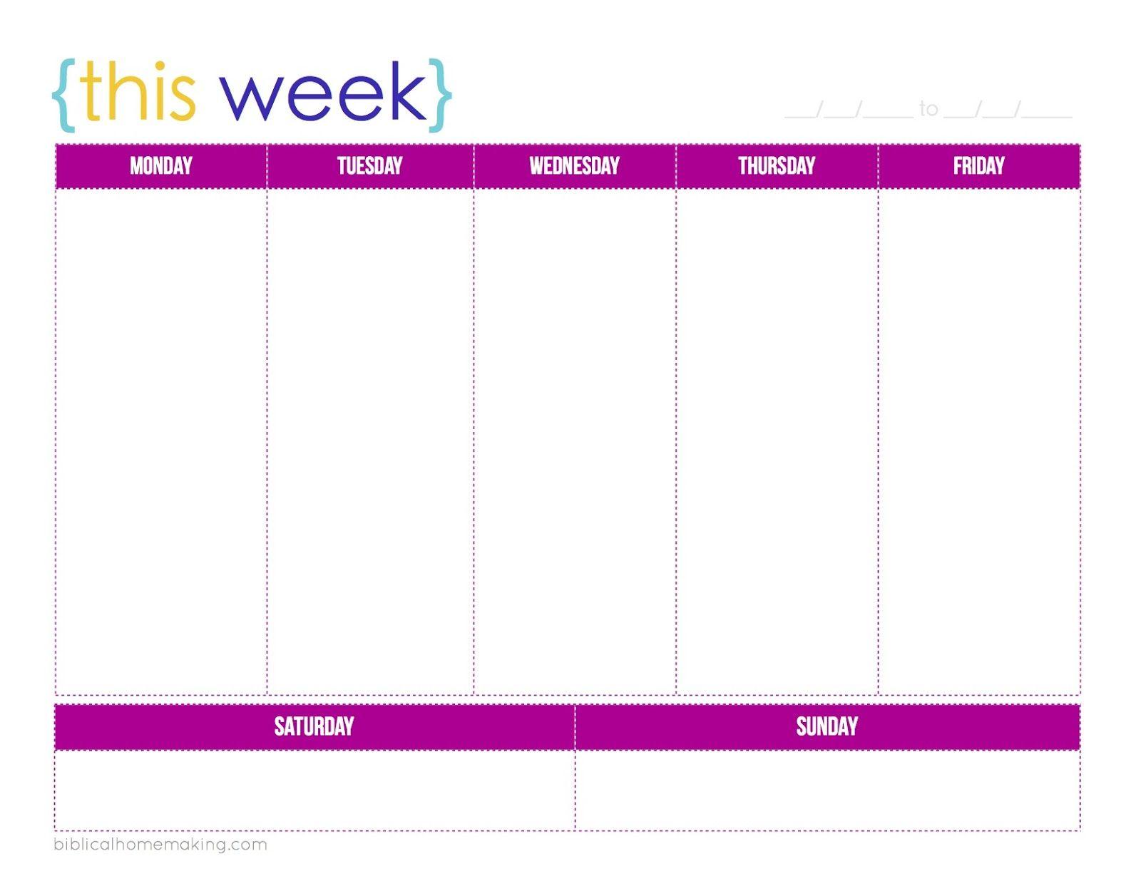 this week}- cute free weekly planner printable! | Christian ...