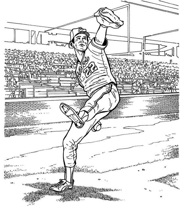 Baltimore Orioles Player Baseball Coloring Page Purple Kitty Baseball Coloring Pages Sports Coloring Pages Baseball Drawings