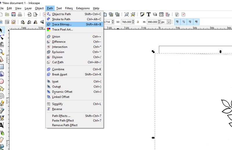 How to: make an SVG vector file in InkScape (free) from a