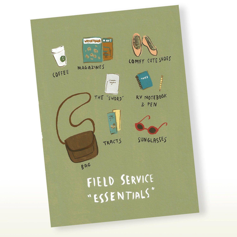 Jw Field Service Essentials Greeting Card Jw Gift Pioneer Gift