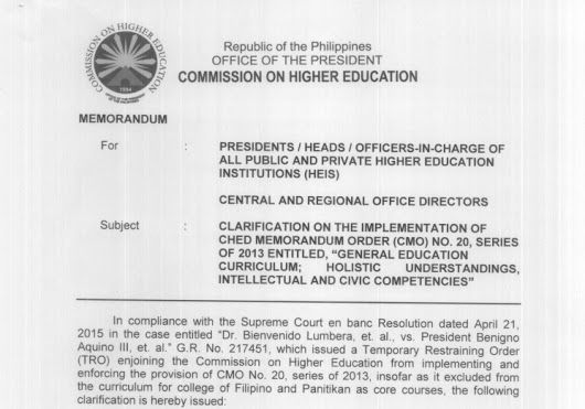 DEPED TAMBAYAN PH: Clarification on the Implementation of