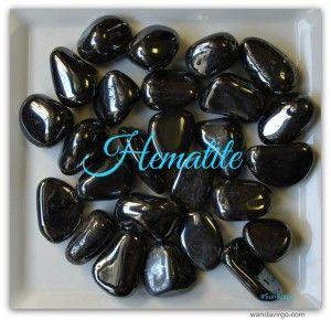 Hematite Stone for protection, grounding and releasing addictive behaviors and more.  $3.75  #hematite www.wandavirgo.com