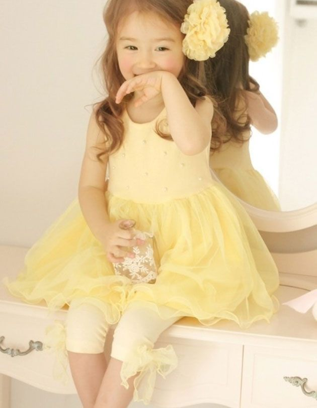 Spring Pearl Tulle Dress-spring, tulle, yellow, pink, dress, pearl