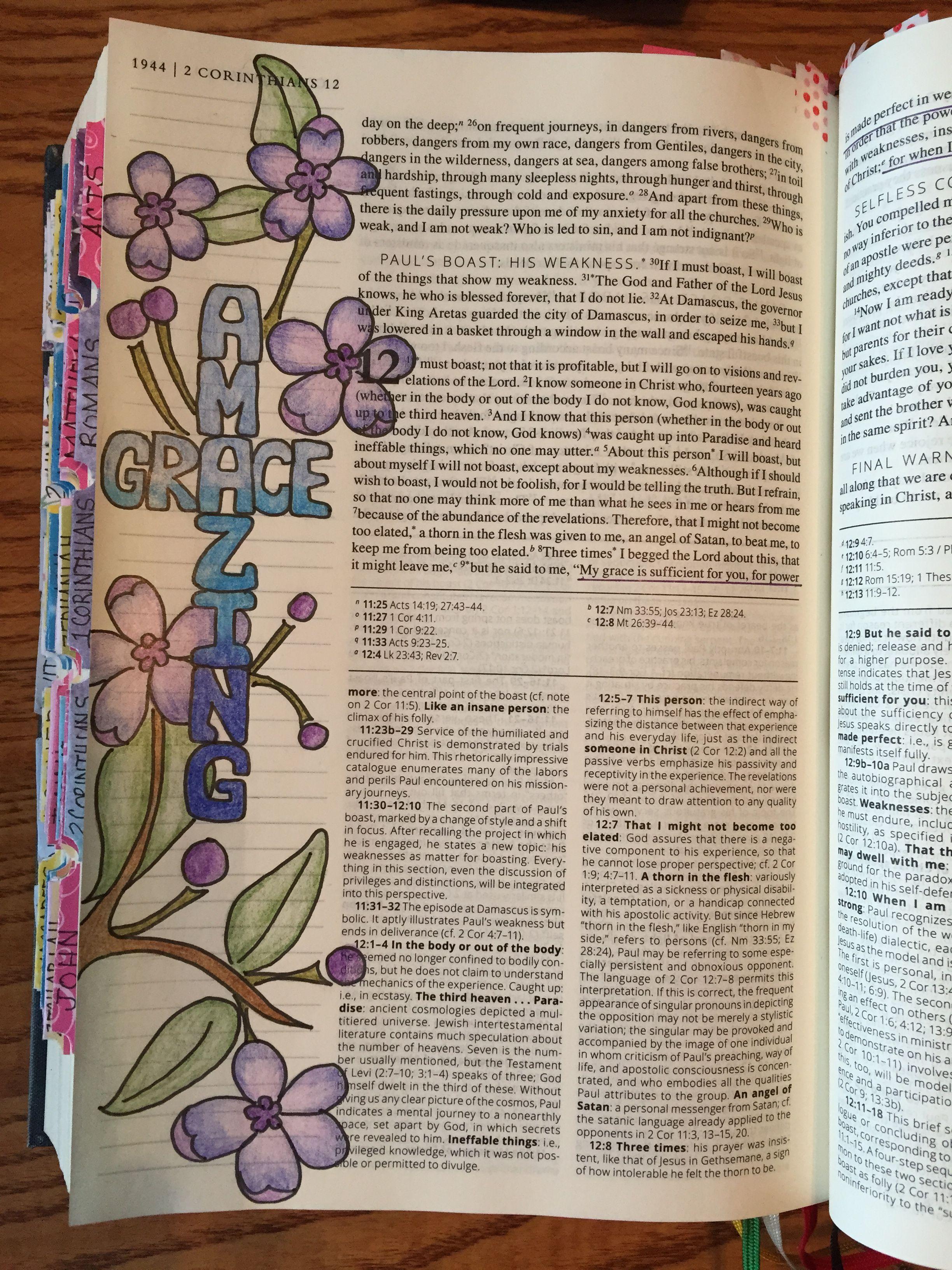 2 Corinthians 129 Bible Journaling