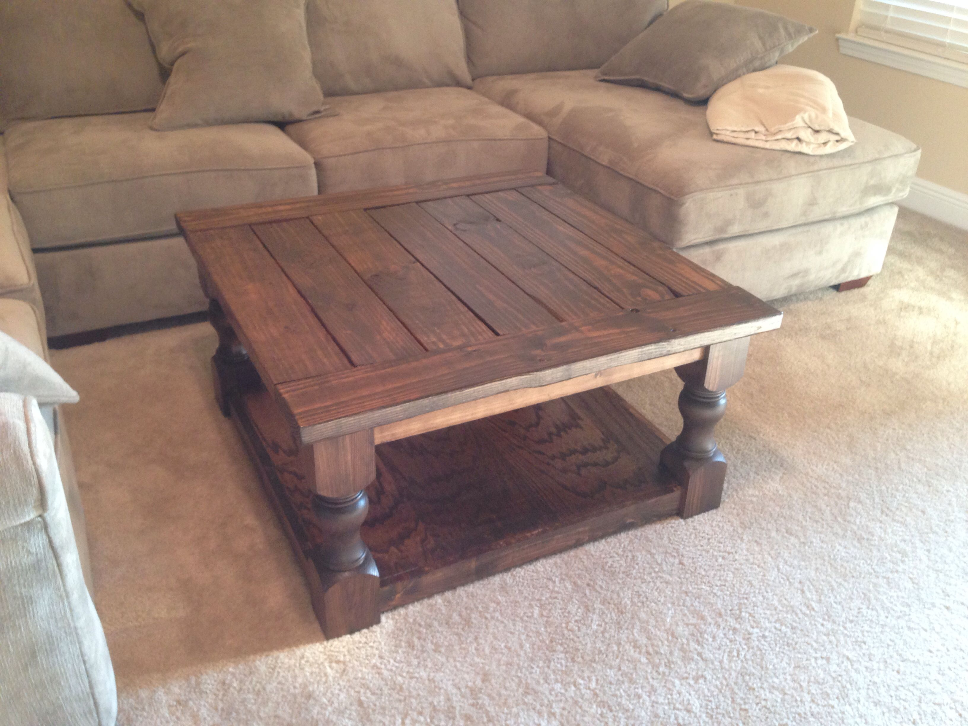 Superieur DIY Coffee Table With Construction Grade Lumber From Lowes