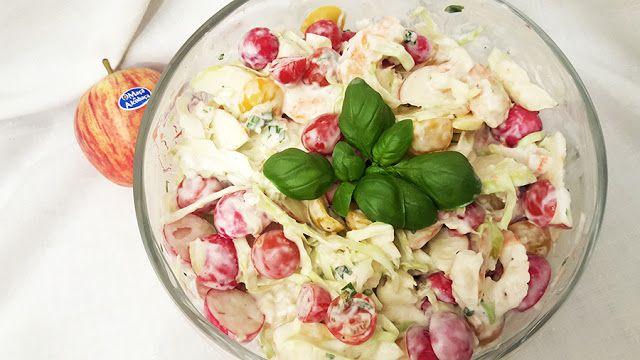 Deliciosa paparoca: Salada de maçã, tomate e camarão