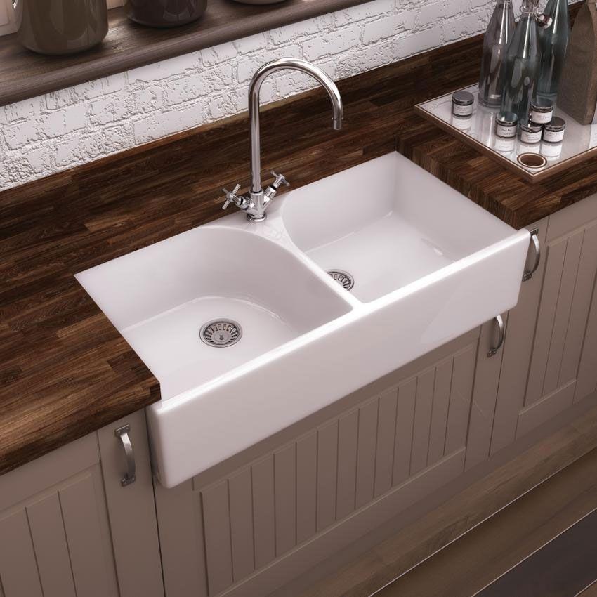 premier athlone butler ceramic double kitchen sink 795 x 500 x 220. beautiful ideas. Home Design Ideas